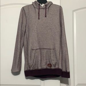 Burgundy men's hoodie